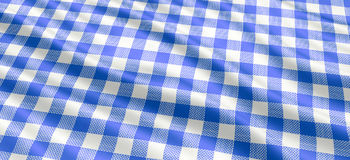 Nappe bleue et blanche photographie stock