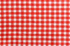 Nappe de toile rouge et blanche image libre de droits