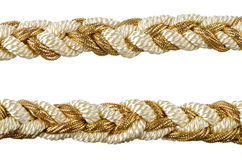Nappe dorate della tenda della corda Fotografia Stock