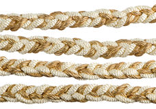 Nappe dorate della tenda della corda Fotografie Stock