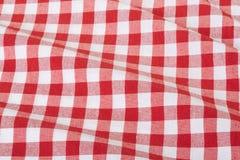 fond onduleux carreaux rouge et blanc de nappe de texture image stock image du nique pique. Black Bedroom Furniture Sets. Home Design Ideas