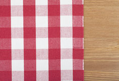 Nappe rouge et blanche Photo stock