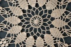 Napperon beige de crochet Image libre de droits