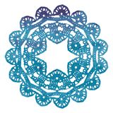 Napperon de dentelle élégant d'aquarelle Mandala de crochet Image libre de droits