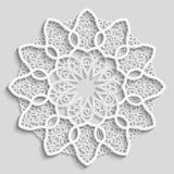Napperon de papier de dentelle, fleur décorative Image libre de droits