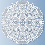 Napperon de papier de dentelle, fleur décorative, mandala Illustration Stock