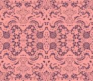 Napperon rose de lacet Photo stock
