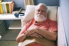 Free Napping After Reading Stock Photography - 110016782