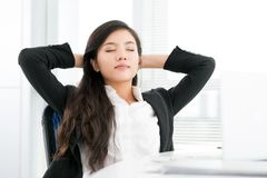 Napping businesswoman royalty free stock photo