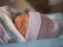 Napping recém-nascido foto de stock