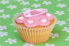 Nappy Speld Cupcake Royalty-vrije Stock Foto's