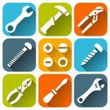 Napraw narzędzia, białe ikony ustawiać Ilustracji