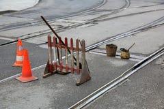 Napraw pracy na drodze Zdjęcie Stock