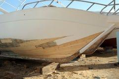 Naprawa przyjemności łódź Fotografia Stock