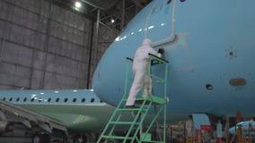 Naprawa samolotu kadłub Kolor kadłub samolotu alyet zbiory wideo