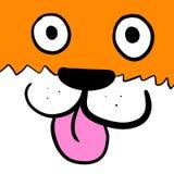 Naprawdę Szczęśliwy Uroczy pomarańcze psa tło ilustracja wektor