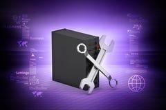 Naprawiać narzędzia z serwerem Zdjęcie Stock