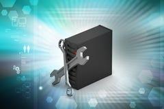 Naprawiać narzędzia z serwerem Fotografia Stock
