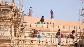Naprawia świątynię w Bagan zbiory