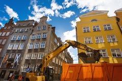 Naprawia drogę, Gdańską Obrazy Stock
