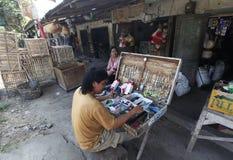 Naprawia matchsticks i zegarki Fotografia Stock