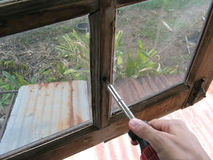 Naprawia okno Fotografia Royalty Free