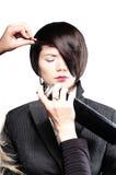 naprawiania włosy model s zdjęcia royalty free