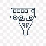 Naprawianie Autobusowa wektorowa ikona odizolowywająca na przejrzystym tle, li royalty ilustracja
