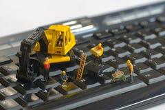 naprawianie klawiaturowi pracownicy zdjęcia stock