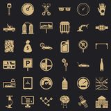 Naprawianie samochodowe ikony ustawiać, prosty styl ilustracji