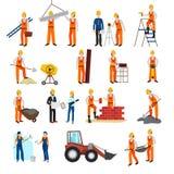 Naprawy budowy budowniczego set ilustracja wektor