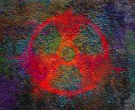 Napromienianie szyldowy symbol w postaci wybuchu Fotografia Royalty Free