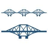 Naprzód Przerzuca most set odizolowywającego na bielu błękitna sylwetka ilustracji