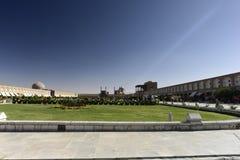 Naqsh-e Jahan清真寺看法在Esfahan,伊朗 图库摄影
