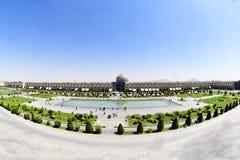 Naqsh-e Jahan清真寺Pranoramic视图在Esfahan,伊朗 免版税库存照片
