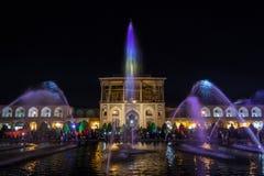 Naqsh e Jahan kwadrat lub imama kwadrat w Isfahan, także znać jako Meidan Emam, Iran Ja jest ważnym dziejowym Perskim cesarskim m obrazy royalty free