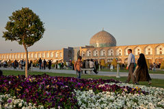 Naqsh-e Jahan Square in Isfahan City Stock Images