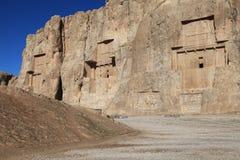 NAQSH-E ROSTAM - Grave of king Daeiros and Xerxs Royalty Free Stock Image