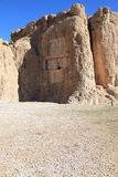 NAQSH-E ROSTAM - Tomba del re Daeiros e Xerxs Fotografia Stock