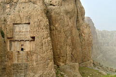 Naqsh-e Rustam, an ancient necropolis in Iran. Royalty Free Stock Photo