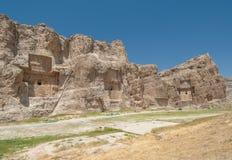 Naqsh-e Rustam ancient necropolis, Pars Province, Iran. Ancient Naqsh-e Rustam necropolis, Pars Province, Iran Stock Photos