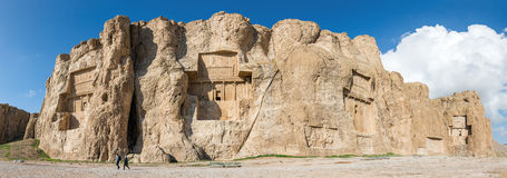 Naqsh-e Rustam, an ancient necropolis in Pars Province, Iran Royalty Free Stock Images