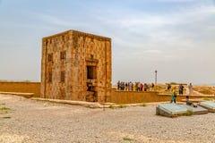 Naqsh-e Rustam Cube de Zoroaster Photo stock