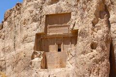 Naqsh-e Rustam, der Iran Grab von Darius II stockbild