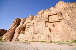 Naqsh-e Rustam, die Gräber von Achaemenid-Königen Lizenzfreies Stockbild