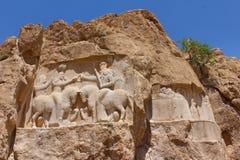 Naqsh-e Rustam, Iran Soulagement de roche de l'investiture d'Ardashir I photos libres de droits
