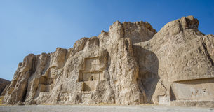 Naqsh-e Rustam necropolis by Perseopolis in Iran. Naqsh-e Rustam necropolis by Perseopolis in Shiraz Royalty Free Stock Photo