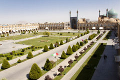 Naqsh-I Jahan Square in Esfahan. In Iran. Aerial view Royalty Free Stock Images