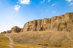 Naqsh-i Rustam, Persepolis, Shiraz, der Iran stockfotografie