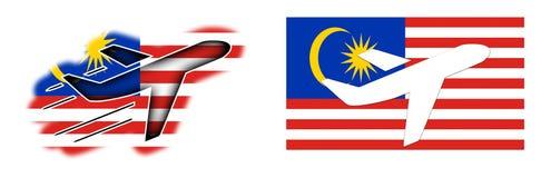 Naród flaga Malezja - samolot odizolowywający - royalty ilustracja